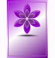 purple logotype in flower shape geometric element vector image vector image
