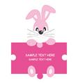 rabbit pink vector image vector image