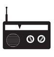 radio icon on white background flat style redio vector image vector image