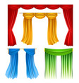 realistic colorful cloths isolated on white vector image vector image
