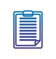 report clipboard office line gradient design vector image