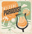 Retro poster template for travel agency vector image vector image