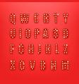 retro style alphabet clipart vector image vector image