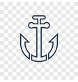 sailboat anchor concept linear icon isolated on vector image