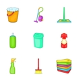 Sanitary day icons set cartoon style vector image vector image