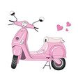 scooter pink vector image vector image
