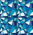 Seamless background with blue mosaic made of vector image vector image