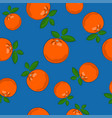 seamless pattern orange on blue background vector image vector image