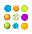 set of blank colorful buttons vector image