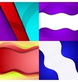 Set of bright abstract backgrounds Design eps 10 vector image vector image