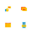 set of wd icons flat style symbols with photo vector image vector image