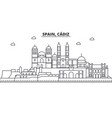 spain cadiz architecture line skyline vector image vector image