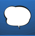 speech bubble blue retro background vector image vector image