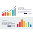 statistic posters with growing financial vector image vector image