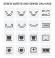 street gutter icon vector image vector image