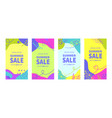 summer sale banner templates for social media vector image
