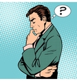 Thinking businessman questions vector image vector image