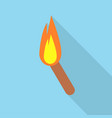 torch icon set of great flat icons with style vector image