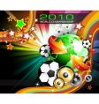 world football championship 2010 vector image