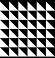 seamless triangle pattern in black and vector image