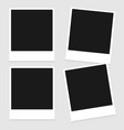 set of vintage photo frame isolated vector image