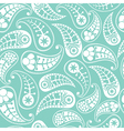Seamless paisley texture in blue vector image