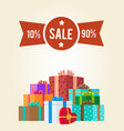 10 to 90 discounts clearance sale premium label vector image vector image