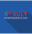 4th of july concept flat banner usa independence vector image vector image