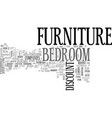 a guide to discount bedroom furniture text word vector image vector image