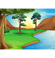 A river at the forest vector image vector image