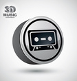 Audio cassette icon isolated 3d music theme design vector image vector image