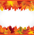 autumn leaves seamless border fall maple leaf vector image vector image