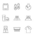 bowling alley icons set outline style vector image