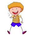 Boy smiling vector image vector image