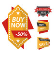 buy now sale and discount isolated icons special vector image vector image