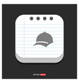 cap icon gray icon on notepad style template eps vector image