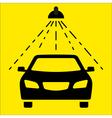 Car wash signboard vector image