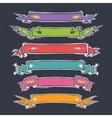Cartoon Ribbons Set vector image vector image