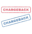 chargeback textile stamps vector image vector image