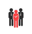choosing best employee for job vector image