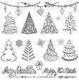 Christmas tree ballsdecorwishesBlack vector image vector image