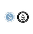 clinically tested water drop icons vector image