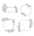 coffee tree branch wreath frame collection vector image vector image