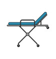 color image cartoon medical stretcher bed on vector image vector image