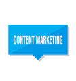 content marketing price tag vector image vector image