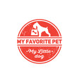 dog food shop pet products kennel club vector image