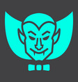 dracula vampire glyph icon halloween and scary vector image vector image