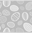 easter egg seamless pattern white gray holiday vector image