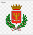 emblem of palermo vector image vector image