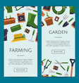 flat gardening icons web banner templates vector image vector image